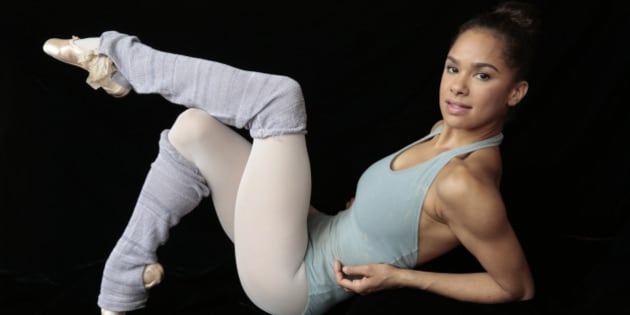 NEW YORK, NEW YORK--MAY 22, 2014--Prima ballerina Misty Copeland will be a make history as the 1st African-American woman to dance the lead role of Swanilda in the famous ballet Coppelia. She will also be a guest judge on 'So You Think You Can Dance.' Portrait of Copeland taken at Lincoln Center of Mary 22, 2014.  (Photo by Carolyn Cole/Los Angeles Times via Getty Images)