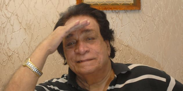 MUMBAI, INDIA - OCTOBER 18: Veteran Bollywood actor Kader Khan poses for picture during an interview at his residence on October 18, 2013 in Mumbai, India. The actor has produced a film titled 'In Your Arms' which will star three generations of the Khan family which includes Kader Khan himself, his sons Sarfaraz and Shah Nawaz Ali along with his eight year old grandson Hamzaa (Sarfaraz's son). (Photo by Prodip Guha\Hindustan Times via Getty Images)
