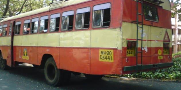 MSRTC (Maharashtra State Road Transport Corporation) Ordinary bus. India