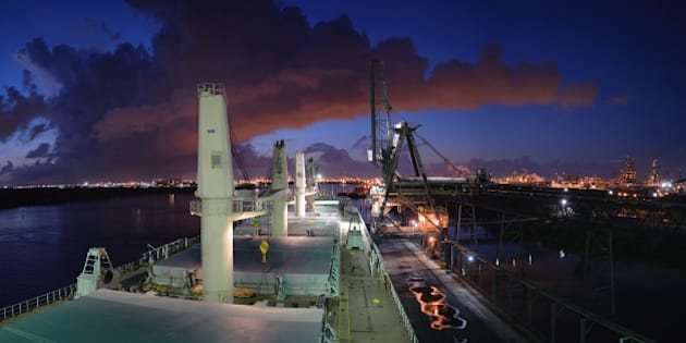 Finishing in the early morning.  Taken on the Houston Ship Channel.