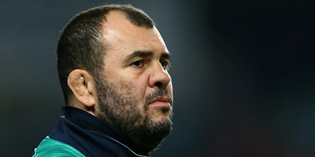 SYDNEY, AUSTRALIA - JUNE 27:  Waratahs coach Michael Cheika watches his players warm up prior to the Super Rugby Semi Final match between the Waratahs and the Highlanders at Allianz Stadium on June 27, 2015 in Sydney, Australia.  (Photo by Cameron Spencer/Getty Images)