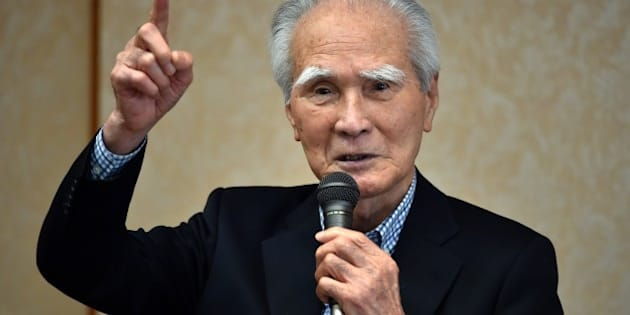 Former Japanese Prime Minister Tomiichi Murayama delivers a speech in Tokyo on May 18, 2015. Murayama, the architect of a landmark Japanese apology for World War II crimes on May 18 urged Prime Minister Shinzo Abe to follow his lead on the 70th anniversary of the end of hostilities. AFP PHOTO / Yoshikazu TSUNO        (Photo credit should read YOSHIKAZU TSUNO/AFP/Getty Images)