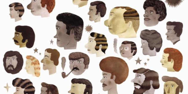 Variety of men's hairstyles