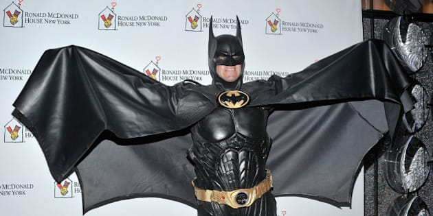 NEW YORK, NY - OCTOBER 25:  Lenny Robinson as Batman attends the Masquerade Ball Benefiting Ronald McDonald House at Apella on October 25, 2012 in New York City.  (Photo by Daniel Zuchnik/Getty Images)
