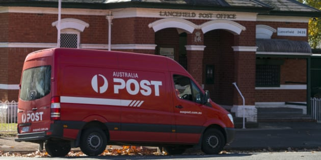 Postal service in a small Victorian town.