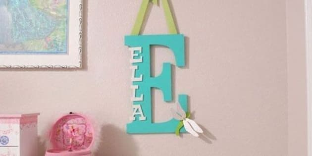 Baby name decor 15 ways to personalize your baby 39 s nursery for Baby name decoration ideas