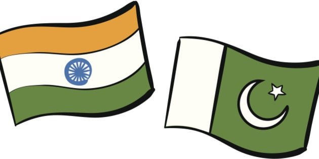 India & Pakistan flags.