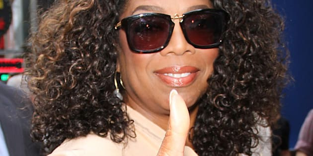 NEW YORK, NY - AUGUST 4: Oprah Winfrey at Good Morning America to talk about her new movie the Hundred-Foot Journey  in New York on August 4, 2014. Credit: RW/MediaPunch/IPX