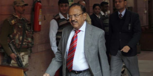 NEW DELHI, INDIA - FEBRUARY 5: (file photo) Indian National Security Advisor Ajit Doval at Home Ministry, on February 5, 2015 in New Delhi, India. Doval was born in 1945 to a Garhwali family in the village of Ghiri Banelsyun in Pauri Garhwal in the erstwhile princely state of Tehri Garhwal, now in Uttarakhand. Doval's father had served in the Indian Army. He was undercover in Pakistan for 7 years posing as a Pakistani Muslim in Lahore. In 1999, when the Indian Airlines flight IC-814 was hijacked from Kathmandu and flown to Kandahar with the passengers as hostages, Doval was India's main negotiator with the hijackers. In Kashmir, he infiltrated the militant outfits and was able to turn militants into peacemakers. The transforming of rabid anti-India militant Kuka Parray into a pro-India peacenik was a notable triumph of Doval. Some of the credit for peace in Kashmir in the last decade should go to the current NSA. (Photo by Arvind Yadav/Hindustan Times via Getty Images)