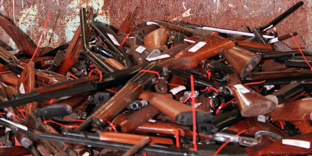 TO GO WITH US-shooting-guns-Australia,FOCUS by Martin Parry