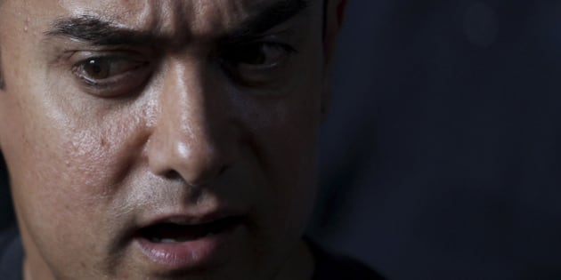 Bollywood actor Aamir Khan speaks during a media interaction on completion of his 25 years in Indian cinema, in Mumbai, India, Monday, April 29, 2013. (AP Photo/Rafiq Maqbool)