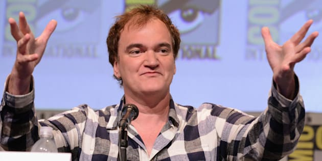 SAN DIEGO, CA - JULY 11:  Writer/director Quentin Tarantino speaks onstage at Quentin Tarantino's 'The Hateful Eight' panel during Comic-Con International 2015 at the San Diego Convention Center on July 11, 2015 in San Diego, California.  (Photo by Albert L. Ortega/Getty Images)