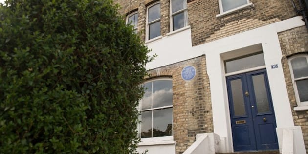 A view of the former home of Dr Bhimrao Ramji Ambedkar, the Indian social justice reformer in north London which is under offer on April 25, 2015. Ambedkar, popularly known as Babasaheb campaigned against social discrimination and was the principal architect of the Indian constitution. AFP PHOTO / LEON NEAL        (Photo credit should read LEON NEAL,LEON NEAL/AFP/Getty Images)