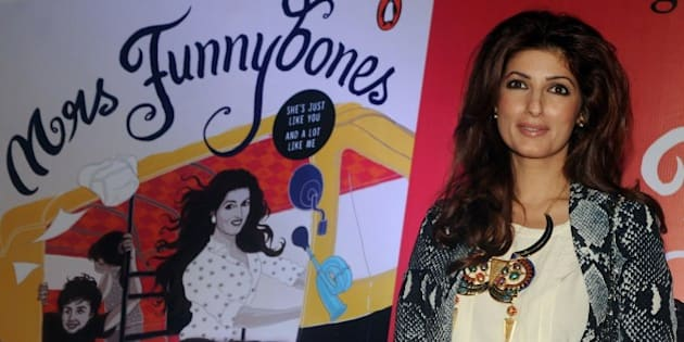 Indian Bollywood actress, columnist and interior designer Twinkle Khanna poses for a photograph during the launch of her book 'Miss Funnybones' in Mumbai on late August 18, 2015. AFP PHOTO / STR        (Photo credit should read STRDEL/AFP/Getty Images)