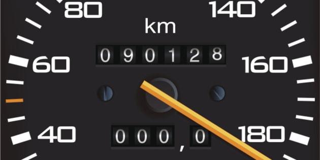 Vector detailed speedometer, easy for edit