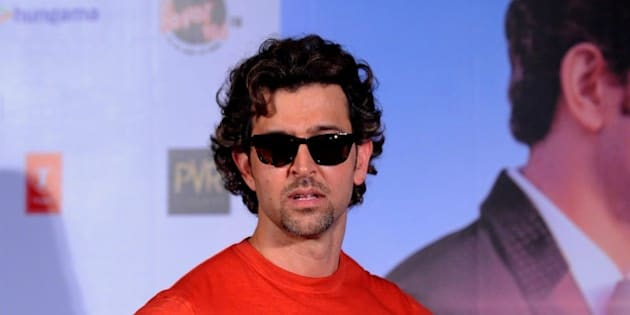 Indian Bollywood actor Hrithik Roshan poses during the launch of the T-Series Music Video song 'Dheere Dheere se' in Mumbai on September 1, 2015.  AFP PHOTO        (Photo credit should read STR/AFP/Getty Images)