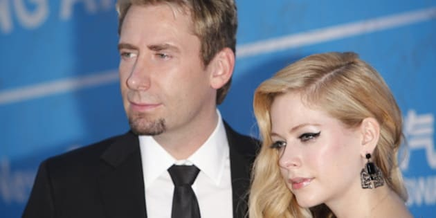 MACAU - OCTOBER 07:  (CHINA OUT) Singer Avril Lavigne and her husband Chad Kroeger attend the 2013 Huading Awards ceremony at The Venetian on October 7, 2013 in Macau, Macau.  (Photo by ChinaFotoPress/ChinaFotoPress via Getty Images)