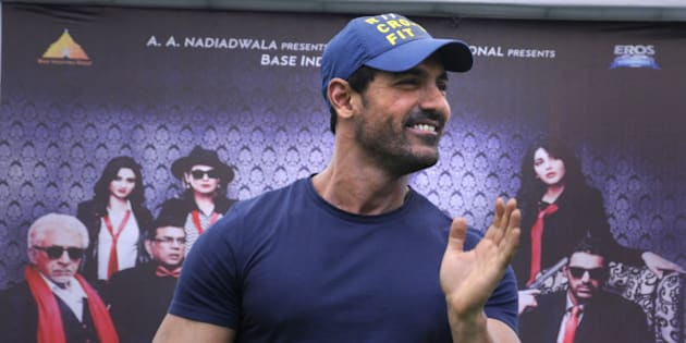 GURGAON, INDIA - SEPTEMBER 1: Bollywood actor John Abraham during the promotional event of his upcoming movie Welcome Back in SGT University on September 1, 2015 in Gurgaon, India. The movie is scheduled to release on September 4, 2015 in cinemas across the country. (Photo by Parveen Kumar/Hindustan Times via Getty Images)