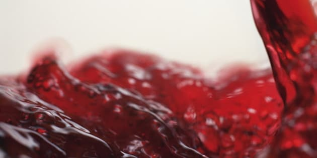 Close Up Image of Poured Red Wine
