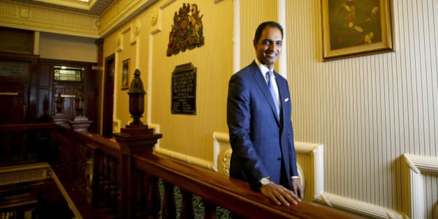 G.V. Sanjay Reddy, vice chairman of GVK Power & Infrastructure Ltd., poses for a photograph in Brisbane, Australia, on Thursday, Feb. 23, 2012. GVK Group, building a $10 billion coal, rail and port project in Australia's Galilee Basin, said its plan for a rail line is the most advanced among companies competing for government approval with construction due to start before the end of the year. Photographer: Patrick Hamilton/Bloomberg via Getty Images