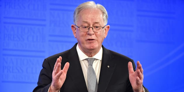 Andrew Robb, Australia's trade and investment minister, speaks at the National Press Club in Canberra, Australia, on Wednesday, Aug. 12, 2015. China has 'moved quickly' to devalue its currency, Robb told reporters in Canberra. Photographer: Mark Graham/Bloomberg via Getty Images