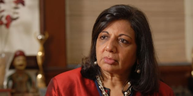 BANGALORE, INDIA  AUGUST 27: Kiran Mazumdar Shaw, Chairman and Managing Director of Biocon Limited poses for a profile shoot during an interview on August 27, 2010 in Bangalore, India. (Photo by Hemant Mishra/Mint via Getty Images)