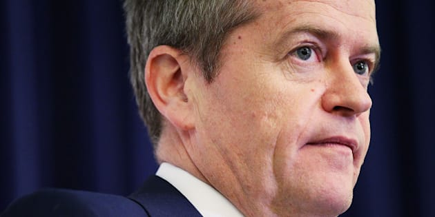 CANBERRA, AUSTRALIA - AUGUST 11:  Leader of the Opposition Bill Shorten speaks during a Labor Party Caucus meeting at Parliament House on August 11, 2015 in Canberra, Australia. Tony Smith was elected Speaker on 10, August following the resignation of Bronwyn Bishop.  (Photo by Stefan Postles/Getty Images)