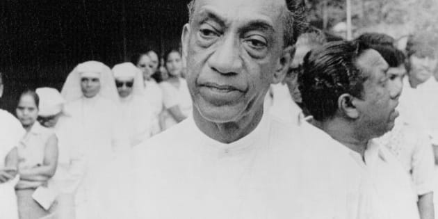 Sri Lanka opposition leader Junius R. Jayewardene waits to vote for the general election, the first in the country in seven years on July 21, 1977.  (AP Photo)