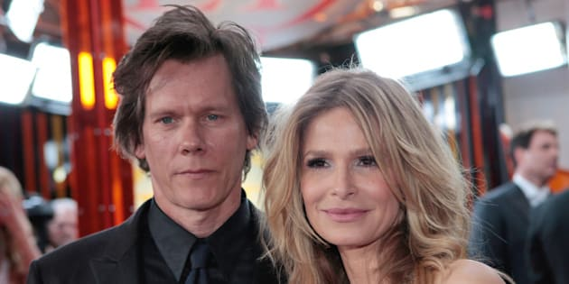 Actors Kevin Bacon, left, and Kyra Sedgwick arrive at the 15th Annual Screen Actors Guild Awards on Sunday, Jan. 25, 2009, in Los Angeles. (AP Photo/Jae C. Hong)