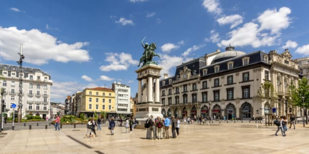 Place de Jaude, Clermont-Ferrand, Puy-de-Dome, Auvergne, France.
