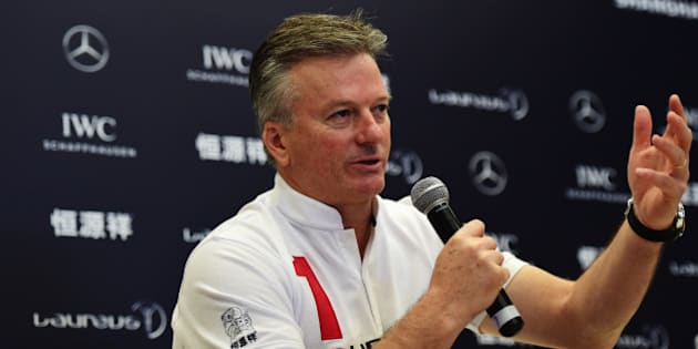 SHANGHAI, CHINA - APRIL 15:  Laureus World Sports Academy member Steve Waugh during a media interview at the Shanghai Grand Theatre prior to the 2015 Laureus World Sports Awards on April 15, 2015 in Shanghai, China.  (Photo by Jamie McDonald/Getty Images for Laureus)