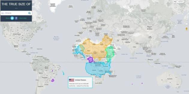 En Images Une Carte Du Monde Montre Les Pays A Leur Vraie Taille