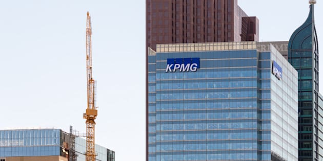 TORONTO, ONTARIO, CANADA - 2015/05/23: Trump building,KPMG building,and Scotiabank tower in downtown Toronto during a blue sky morning. (Photo by Roberto Machado Noa/LightRocket via Getty Images)