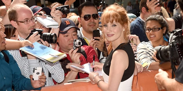 TORONTO, ON - SEPTEMBER 07:  Actress Jessica Chastain attends the 'Miss Julie' premiere during the 2014 Toronto International Film Festival at Winter Garden Theatre on September 7, 2014 in Toronto, Canada.  (Photo by Jason Merritt/Getty Images)