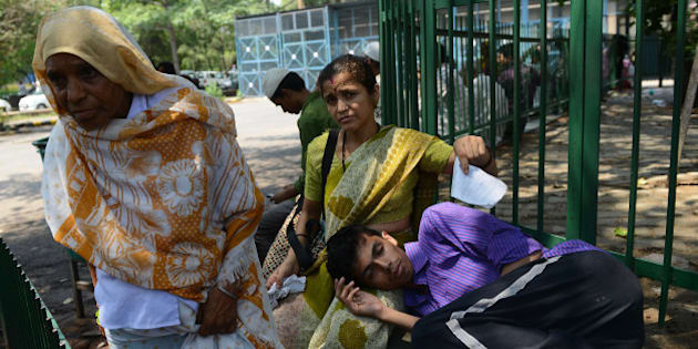NEW DELHI,INDIA JUNE 22: Over 2,000 Resident Doctors went on an indefinite strike on Monday causing severe inconvenience to patients at Safdarjung Hospital in the national capital, Doctors demanding better security at workplace, adequate life-saving and generic drugs, drinking water, time-bound duty hours and salary on time.(Photo by Qamar Sibtain/India Today Group/Getty Images)