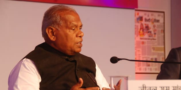 PATNA, INDIA  JUNE 23: Former Bihar Chief Minister and Chief of newly launched party Hindustani Awam Morcha Jitan Ram Manjhi during the Hindustan Bihar Samagam organized by the HT Group on June 23, 2015 in Patna, India. (Photo by Arun Abhi Abhi/Hindustan Times via Getty Images)