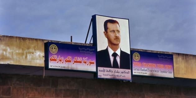 Portrait of Beshar Al Assad in Damasucus street