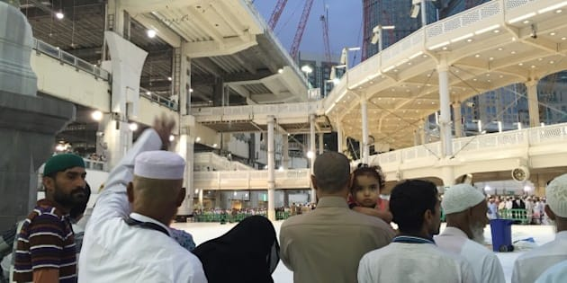MECCA, SAUDI ARABIA - SEPTEMBER 12: A huge construction crane buffeted by strong winds collapsed and crashed through the roof of the Grand Mosque which surrounds the Kaaba, Islam's holiest site on September 12, 2015. At least 87 people have died in Friday's horrific crane accident inside the Sacred Mosque and more than 180 people injured. (Photo by Ozkan Bilgin/Anadolu Agency/Getty Images)