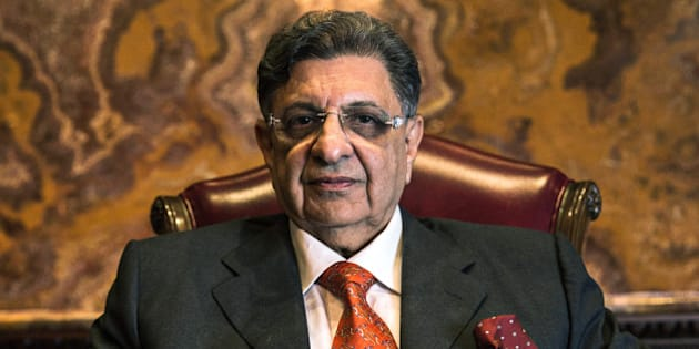 Billionaire Cyrus Poonawalla, chairman of Serum Institute of India Ltd., sits for a photograph in Pune, Maharashtra, India, on Monday, May 4, 2015. Serum, Asia's largest vaccine maker, will look at a possible merger with generic drugmaker Cipla Ltd. if the European venture between the two companies succeeds. Photographer: Sanjit Das/Bloomberg via Getty Images