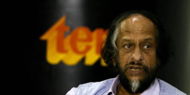 Director-General, TERI and Chairman, Intergovernmental Panel on Climate Change R.K. Pachauri answers a question during a press conference in New Delhi on July 8, 2008, on Opportunities and Implications Related to India's National Action Plan on Climate Change (NAPCC). The NAPCC was unveiled on June 30, demonstrating India's commitment to meeting the challenges of climate change,  NAPCC signals India's intent to move towards greater use of renewable energy resources and more efficient managemnet of critical natural resources such as water.  AFP PHOTO/ Manpreet ROMANA (Photo credit should read MANPREET ROMANA/AFP/Getty Images)