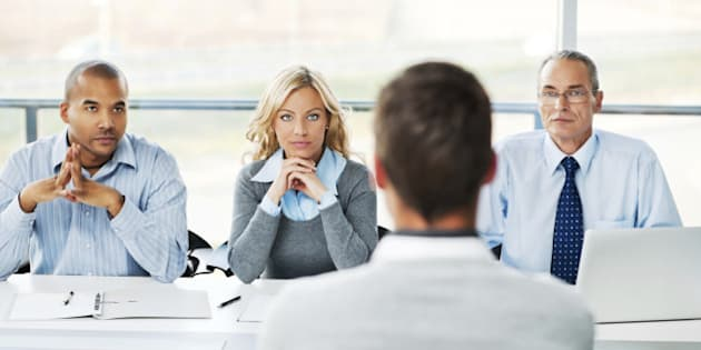 Job interview.  Businessman having a job interview.