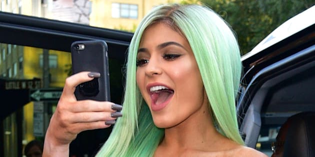 NEW YORK, NY - SEPTEMBER 16:  Kylie Jenner seen on the streets of Manhattan on September 16, 2015 in New York City.  (Photo by James Devaney/GC Images)