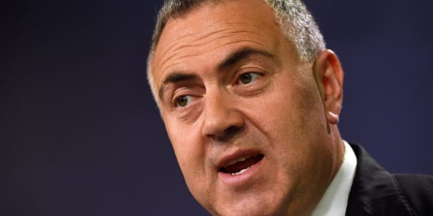 Australian Treasurer Joe Hockey speaks during a press conference in Sydney on September 2, 2015. Australia's economy expanded at its slowest quarterly pace for more than two years as mining and construction activity fell and exports declined, data showed on September 2, hit by weakening growth in its biggest trading partner China.      AFP PHOTO / William WEST        (Photo credit should read WILLIAM WEST/AFP/Getty Images)