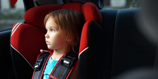 Child In Auto Baby Seat Car