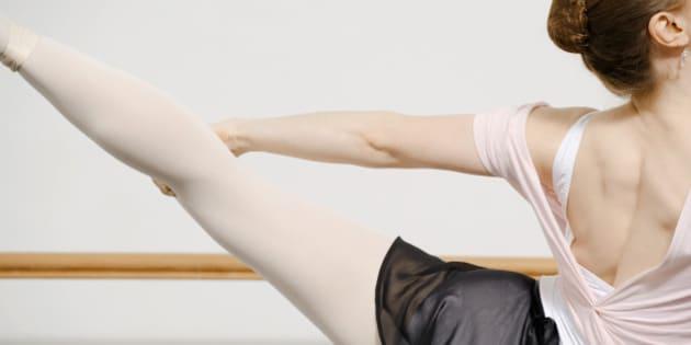 Ballerina stretching