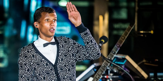 LAS VEGAS, NV - April 16: ***HOUSE COVERAGE*** Stromae performs at The Boulevard Pool at The Cosmopolitan of Las Vegas in Las Vegas, NV on April 16, 2015. Credit: Erik Kabik Photography/Retna Ltd./MediaPunch/IPX