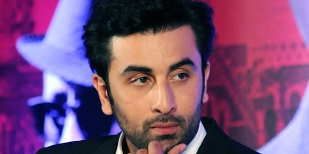 Indian Bollywood actor Ranbir Kapoor looks on during a promotional event for the forthcoming Hindi film 'Bombay Velvet' directed and co-produced by Anurag Kashyap in Mumbai on late April 27, 2015. AFP PHOTO / STR        (Photo credit should read STRDEL/AFP/Getty Images)