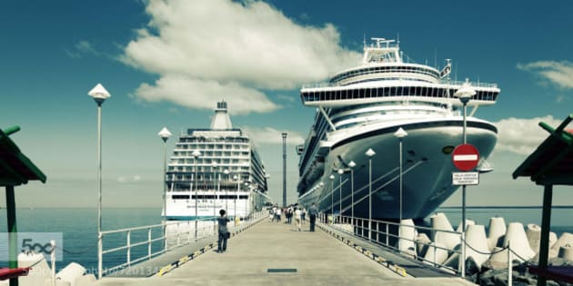 Cruise ship in Tallinn