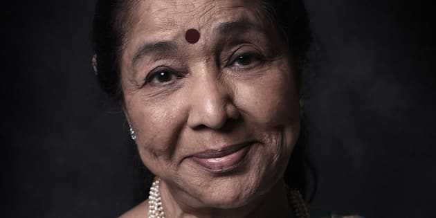 DUBAI, UNITED ARAB EMIRATES - DECEMBER 11: Singer Asha Bhosle is photographed at the 11th Annual Dubai International Film Festival held at the Madinat Jumeriah Complex, on December 11, 2014 in Dubai, United Arab Emirates.  (Photo by Gareth Cattermole/Getty Images Portrait)