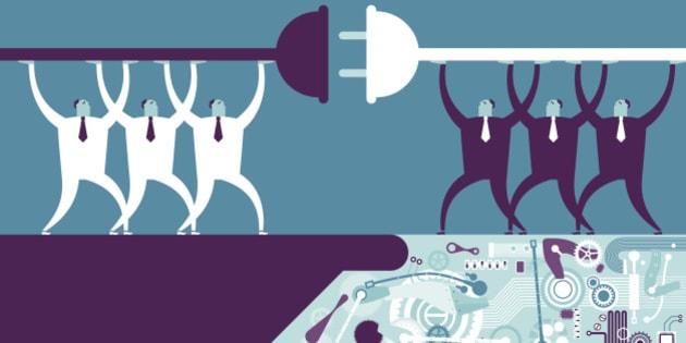 Vector illustration - Robotic HandshakeVector illustration - Robotic Handshake
